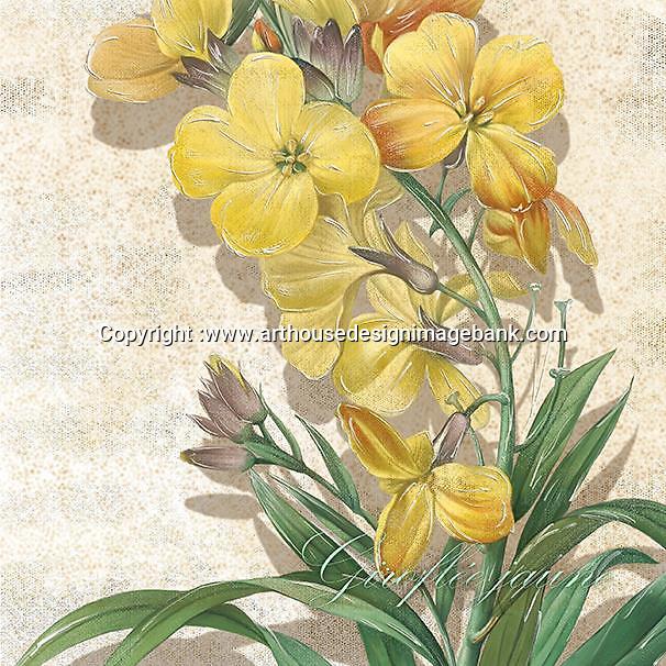 Napkin art floral