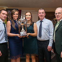 Miltown Malbay Ladies Football Management Barry Kelly, Pat Keane, James Sexton, Jamesie Pender, (missing from photo)  with joint captains Siobhan Talty and Katie Curtin,