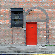 The entrance door of Dublin Simon Community's Rehabilitation Centre in Usher's Quays, Dublin.
