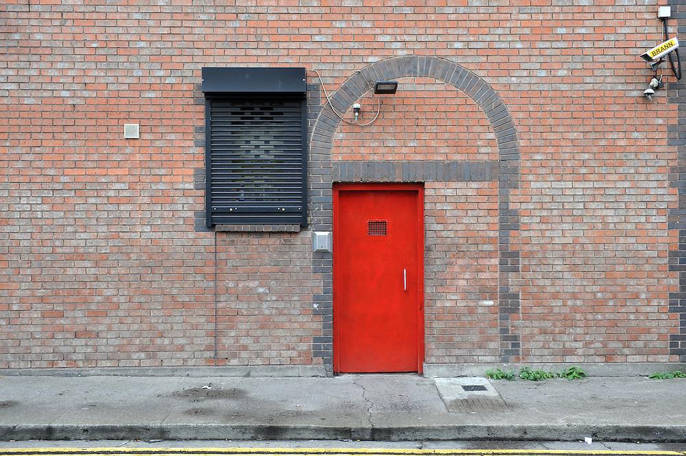 The entrance door of Dublin Simon Community's Rehabilitation Centre in Usher's Quays, Dublin.