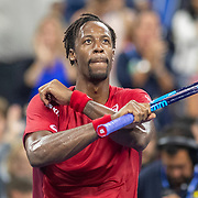 2019 US Open Tennis Tournament- Day Eight.  Gael Monfils of France celebrates his victory against Pablo Andujar of Spain in the Men's Singles round four match on Louis Armstrong Stadium during the 2019 US Open Tennis Tournament at the USTA Billie Jean King National Tennis Center on September 2nd, 2019 in Flushing, Queens, New York City.  (Photo by Tim Clayton/Corbis via Getty Images)