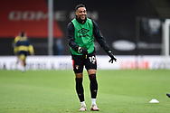 Arnaut Danjuma (10) of AFC Bournemouth warming up ahead of the EFL Sky Bet Championship match between Bournemouth and Stoke City at the Vitality Stadium, Bournemouth, England on 8 May 2021.