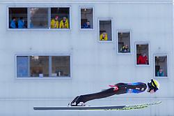 31.12.2017, Olympiaschanze, Garmisch Partenkirchen, GER, FIS Weltcup Ski Sprung, Vierschanzentournee, Garmisch Partenkirchen, Training, im Bild Jonathan Learoyd (FRA) // Jonathan Learoyd of France during his Practice Jump for the Four Hills Tournament of FIS Ski Jumping World Cup at the Olympiaschanze in Garmisch Partenkirchen, Germany on 2017/12/31. EXPA Pictures © 2017, PhotoCredit: EXPA/ Jakob Gruber