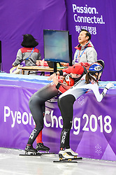 February 17, 2018 - Pyeongchang, Gangwon, South Korea - Kim Boutin of  Canada  celebrating her medal in 1500 meter speed skating for women at Gangneung Ice Arena, Gangneung, South Korea on 17 February 2018. (Credit Image: © Ulrik Pedersen/NurPhoto via ZUMA Press)