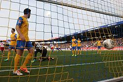 Football: Germany, 1. Bundesliga, Braunschweig, 15.02.2014<br />Pierre-Michel Lasogga (Hamburger SV) play of the goal<br /> copyright: pixathlon