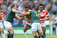 Japan's Full Back Ayumu Goromaru during the Rugby World Cup Pool B match between South Africa and Japan at the Community Stadium, Brighton and Hove, England on 19 September 2015. Photo by Phil Duncan.