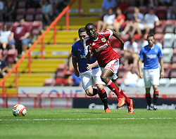 Bristol City's Jordan Wynter drives the ball forward - Photo mandatory by-line: Joe Meredith/JMP - Tel: Mobile: 07966 386802 13/07/2013 - SPORT - FOOTBALL - Bristol -  Bristol City v Glasgow Rangers - Pre Season Friendly - Bristol - Ashton Gate Stadium
