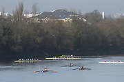 Chiswick. London. Saturday. 23.01.2016. Crew turning after finishing the race. Quintin Head. River Thames.   [Mandatory Credit: Peter Spurrier/Intersport-images.com