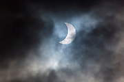 09.55 March 2015 Solar eclipse, partial eclipse of the sun, rare natural phenomenon seen from Burford, The Cotswolds, England UK