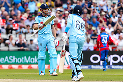 Jonny Bairstow of England celebrates reaching 50 - Mandatory by-line: Robbie Stephenson/JMP - 18/06/2019 - CRICKET- Old Trafford - Manchester, England - England v Afghanistan - ICC Cricket World Cup 2019 group stage