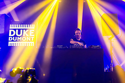 © Licensed to London News Pictures. 14/06/2014. Isle of Wight, UK.   Duke Dumont performing live at Isle of Wight Festival .   Duke Dumont is a British DJ and music producer.The Isle of Wight festival is an annual music festival that takes place on the Isle of Wight. Photo credit : Richard Isaac/LNP