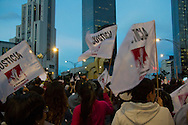 Demonstration in Mexico City protesting for the forty-three students missing in Guerrrero State