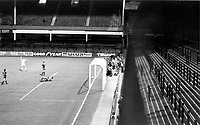 West Ham goal-but no supporters to cheer it! West Ham United v Castilla, European Cup Winners Cup 1/10/80. Credit: Colorsport