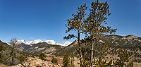 Rocky Mountain National Park landscape panorama. Composite of two images taken with a Nikon D3 camera and 24 mm f/3.5 PC-E lens (ISO 200, 24 mm, f/16, 1/200 sec). Composite created using Auto Pano Giga.