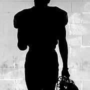 11/8/14, Santa Ana Stadium, Santa Ana ,CA - An unnamed Grossmont player prepares for the game as the Santa Ana College Dons host the Grossmont College Griffins in the last game of the season. The Griffins triumphed 30-23 ©2014 Josh Jordan/Sport Shooter Academy
