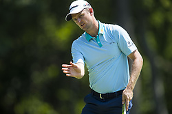 May 25, 2018 - Fort Worth, TX, USA - FORT WORTH, TX - MAY 25, 2018 - Justin Rose reacts to his putt on the 8th hole during the second round of the 2018 Fort Worth Invitational PGA at Colonial Country Club in Fort Worth, Texas (Credit Image: © Erich Schlegel via ZUMA Wire)