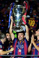 Jordi Alba Celebration Esultanza  <br /> Berlino 06-06-2015 OlympiaStadion  <br /> Juventus Barcelona - Juventus Barcellona <br /> Finale Final Champions League 2014/2015 <br /> Foto Matteo Gribaudi/Image Sport/Insidefoto