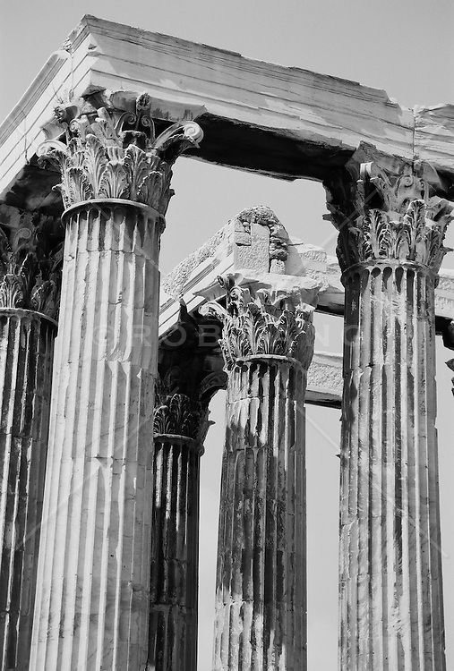 Detail of The Temple of Olympian Zeus in Athens, Greece