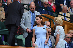 Duchess of Cambridge and the Duke of Cambridge on day thirteen of the Wimbledon Championships at the All England Lawn Tennis and Croquet Club, Wimbledon, London, UK on July 14, 2019. Photo by Corinne Dubreuil/ABACAPRESS.COM
