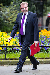 © Licensed to London News Pictures . 29/03/2017 . London , UK . DAVID MUNDELL arrives . Ministers arriving and leaving for a Cabinet meeting and Prime Minster's Questions , at 10 Downing Street , Westminster . Today (29th March 2017) the British Government will trigger Article 50 of the Lisbon Treaty and commence Britain's withdrawal from the European Union . Photo credit : Joel Goodman/LNP