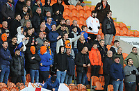 Blackpool fans watch their team in action <br /> <br /> Photographer Kevin Barnes/CameraSport<br /> <br /> The EFL Sky Bet Championship - Blackpool v Peterborough United - Saturday 2nd November 2019 - Bloomfield Road - Blackpool<br /> <br /> World Copyright © 2019 CameraSport. All rights reserved. 43 Linden Ave. Countesthorpe. Leicester. England. LE8 5PG - Tel: +44 (0) 116 277 4147 - admin@camerasport.com - www.camerasport.com