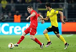 James Milner of Liverpool passes the ball - Mandatory by-line: Robbie Stephenson/JMP - 07/04/2016 - FOOTBALL - Signal Iduna Park - Dortmund,  - Borussia Dortmund v Liverpool - UEFA Europa League Quarter Finals First Leg