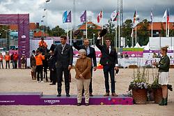 Team Belgium, Simonet Edouard, Degrieck Dries, Geerts Glenn, Thiry Francoise<br /> FEI European Driving Championships - Goteborg 2017 <br /> © Hippo Foto - Dirk Caremans<br /> 27/08/2017,