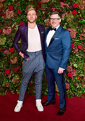 Danny Pye and Tom MaCrae attending the Evening Standard Theatre Awards 2018 at the Theatre Royal, Drury Lane in Covent Garden, London