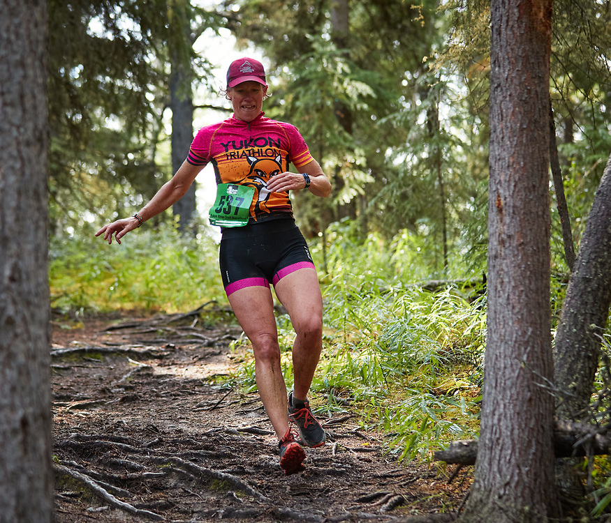 The Long Lake Triathlon was held August 7, 2021 under grey skies. The course consisted of a 1km swim, a 16km mountain bike (Powerline -  Hula Girl - Bypass - Magnusson Red - Upper Boogaloo - Lower Boogaloo - Long Lake Ridge) and a 6km run (2 loops of Hospital Ridge Trail - Blowdown - Long Lake Loop).