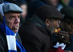 A Huddersfield Town fan in the stands