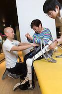 Hybrid Assistive Limb, Robot Suit HAL tillverkad av Cyberdyne, Japan<br /> NOT FOR COMMERCIAL USE UNLESS PRIOR AGREED WITH PHOTOGRAPHER. (Contact Christina Sjogren at email address : cs@christinasjogren.com )