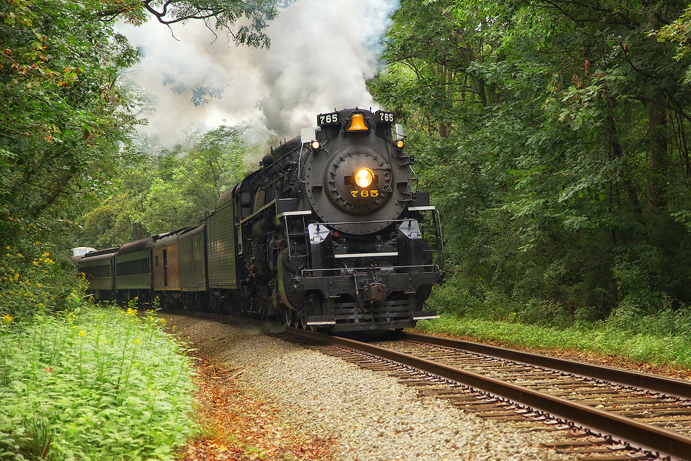 """NKP 765 Steaming Through the Valley<br /> <br /> Available sizes:<br /> 18"""" x 12"""" print or canvas print<br /> <br /> See Pricing page for more information.<br /> <br /> Please contact me for custom sizes and print options including canvas wraps, metal prints, assorted paper options, etc. <br /> <br /> I enjoy working with buyers to help them with all their home and commercial wall art needs."""