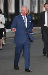The Prince of Wales arrives for a tea party at Spencer House in London to celebrate 70 inspirational people marking their 70th birthday this year.