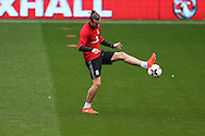 Gareth Bale of Wales in action during Wales football team training at the Cardiff city Stadium in Cardiff , South Wales on Saturday 8th October 2016, the team are preparing for their FIFA World Cup qualifier home to Georgia tomorrow. pic by Andrew Orchard, Andrew Orchard sports photography