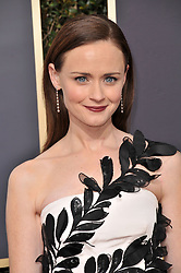 Alexis Bledel at the 75th Golden Globe Awards held at the Beverly Hilton in Beverly Hills, CA on January 7, 2018.<br /><br />(Photo by Sthanlee Mirador)