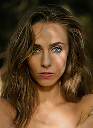 Beauty Portrait of Woman, Close-up view