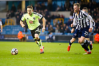 Football - 2016 / 2017 FA Cup - Third Round: Millwall vs. AFC Bournemouth<br /> <br />  Marc Pugh of Bournemouth attacks, at The Den.<br /> <br /> COLORSPORT/WINSTON BYNORTH