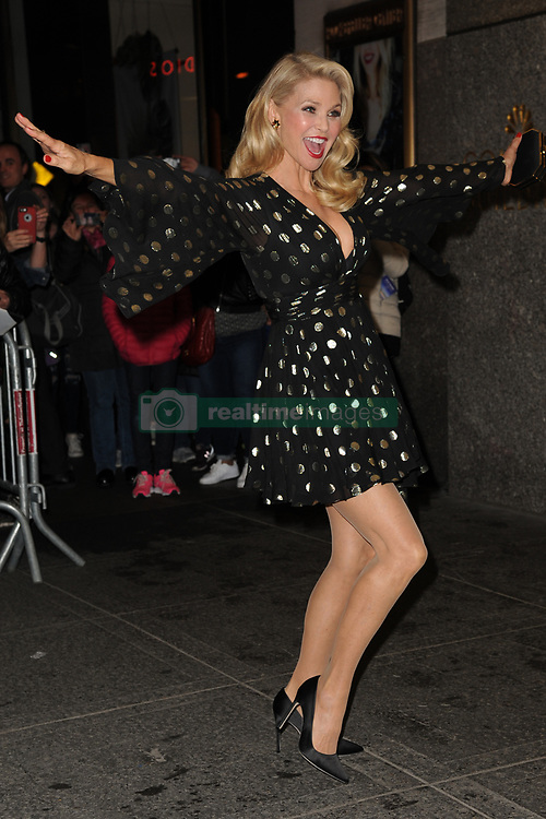 April 19, 2017 - New York, New York, U.S. - CHRISTIE BRINKLEY arriving to the Harper's Bazaar 150th Anniversary celebration at the Rainbow Room in New York City. (Credit Image: © Kristin Callahan/Ace Pictures via ZUMA Press)
