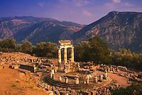 Tholos, Athena Pronaia Sanctuary, Delphi Greece