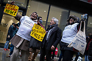 Supporters of Wikileaks activist, Julian Assange, celebrate the court decision not to grant his extradition to the US, after a prolonged legal hearing at the Old Bailey, on 4th January 2021, in London, England.
