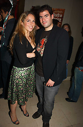 ZAFAR RUSHDIE and FIONA McKENZIE-JOHNSTON at Stelle d'Italia - a celebration of Italian design, fashion and style at The Roof Gardens, 99 Kensington High Street, London on 22nd September 2006.<br />