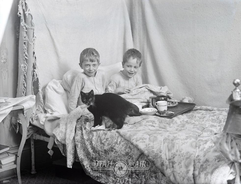 Breakfast in bed early 1900's