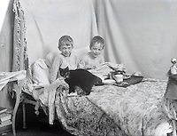 Breakfast in bed early 1900's