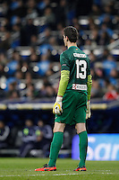 01.12.2012 SPAIN -  La Liga 12/13 Matchday 14th  match played between Real Madrid CF vs  Atletico de Madrid (2-0) at Santiago Bernabeu stadium. The picture show Thibaut Courtois (Belgian goalkeeper of At. Madrid)