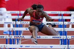 July 20, 2018 - Monaco, France - 100 metres haies feminin - Yanique Thompson  (Credit Image: © Panoramic via ZUMA Press)