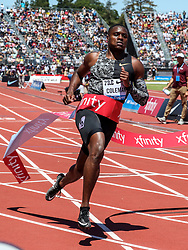 Christian Coleman, USA, wins the 100 meters with world-leading time of 9.81 at 2019 The Prefontaine Classic Track & Field<br /> IAAF Diamond League