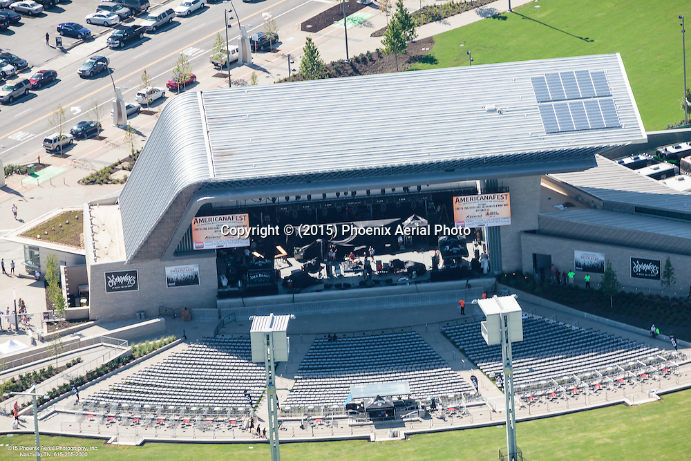 Aerial Photo Of Opening Day At The Ascend Amphitheatre In Nashville Tennessee