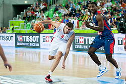 Nemanja Bjelica #8 of Serbia during basketball match between National teams of France and Serbia in 2nd Round at Day 12 of Eurobasket 2013 on September 14, 2013 in SRC Stozice, Ljubljana, Slovenia. (Photo By Urban Urbanc / Sportida)