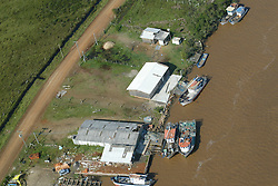 Vista aérea dos estragos causados pelo vento de até 150 Km/h do ciclone Catarina que atingiu a cidade de Torres, no litoral norte do RS, Brasil. FOTO: Jefferson Bernardes /Preview.com