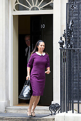 © Licensed to London News Pictures. 07/10/2013. London, UK. Conservative MP Helen Grant, the new under secretary for sport, is seen on Downing Street in London today (07/10/2013) during a ministerial reshuffle. Photo credit: Matt Cetti-Roberts/LNP